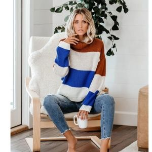 S. the Widow Sweaters - DIMA Striped Loose Knit Oversized Sweater